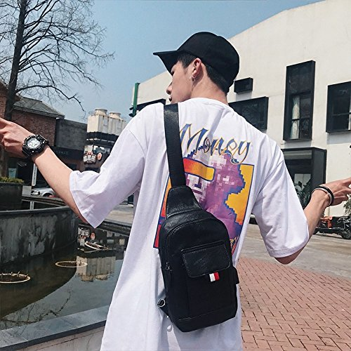 Hongrun Style européen et américain pack poitrine poitrine Hommes Pack Business Mens chest pack sac à bandoulière unique tendance femme version coréenne de lemballage de lipad