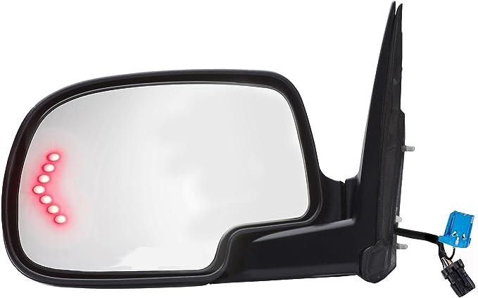 K-Source 62133G Passenger Side Power Heated Mirror Black with Turn Signal Light