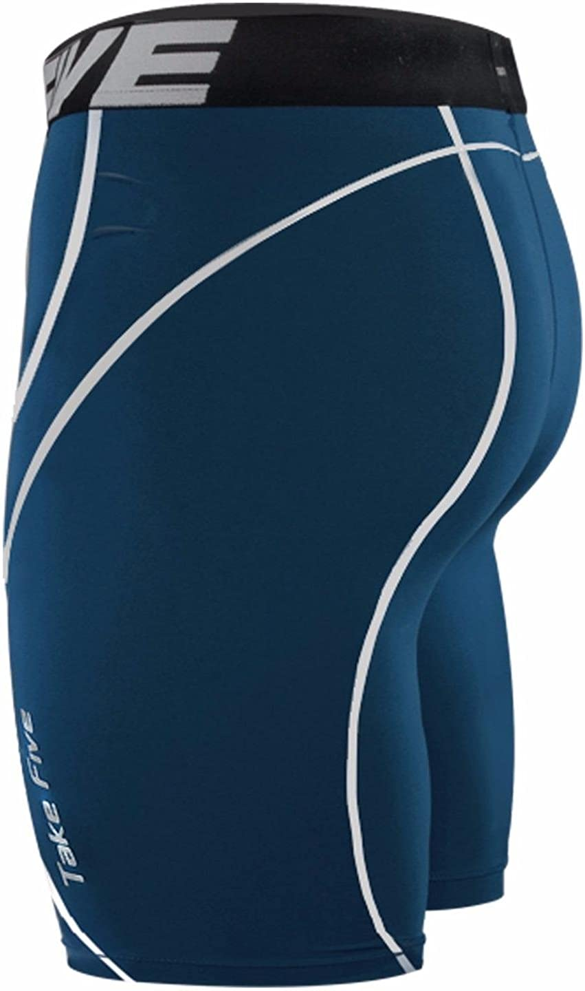 JustOneStyle New Take Five Base Layer Mens Compression Skin Tights 034 Navy Sports Shorts