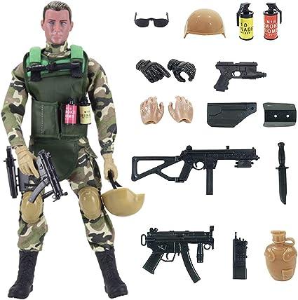 MACHINE GUN SMALL ACTION FIGURE MILITARY GI JOE,ACTION MAN ETC 2