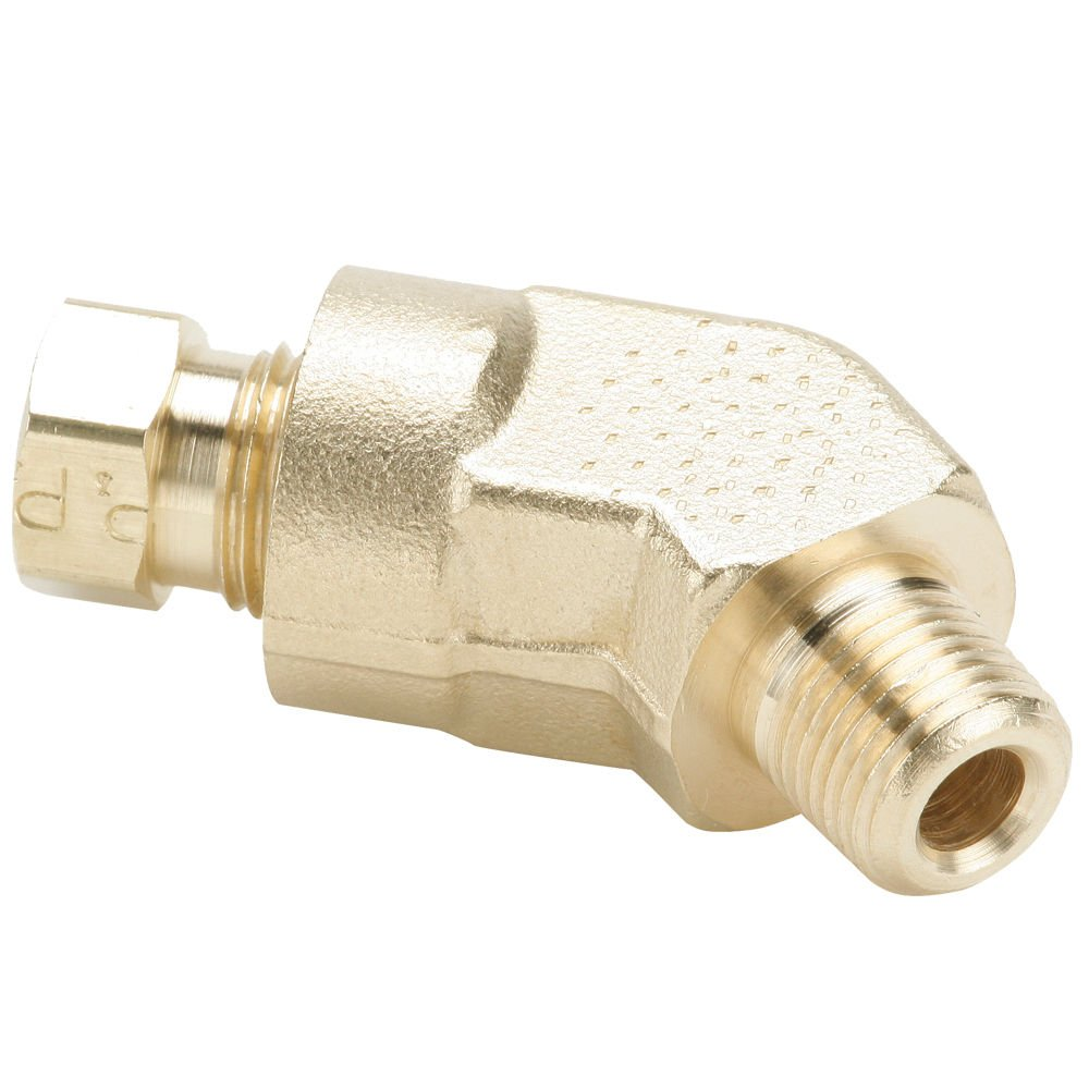 Brass Compression and Male Pipe 45 Degree Elbow Tube to Pipe 1//4 and 3//8 1//4 and 3//8 Parker 179HD-6-4 Flareless Tube Fitting Hi-Duty