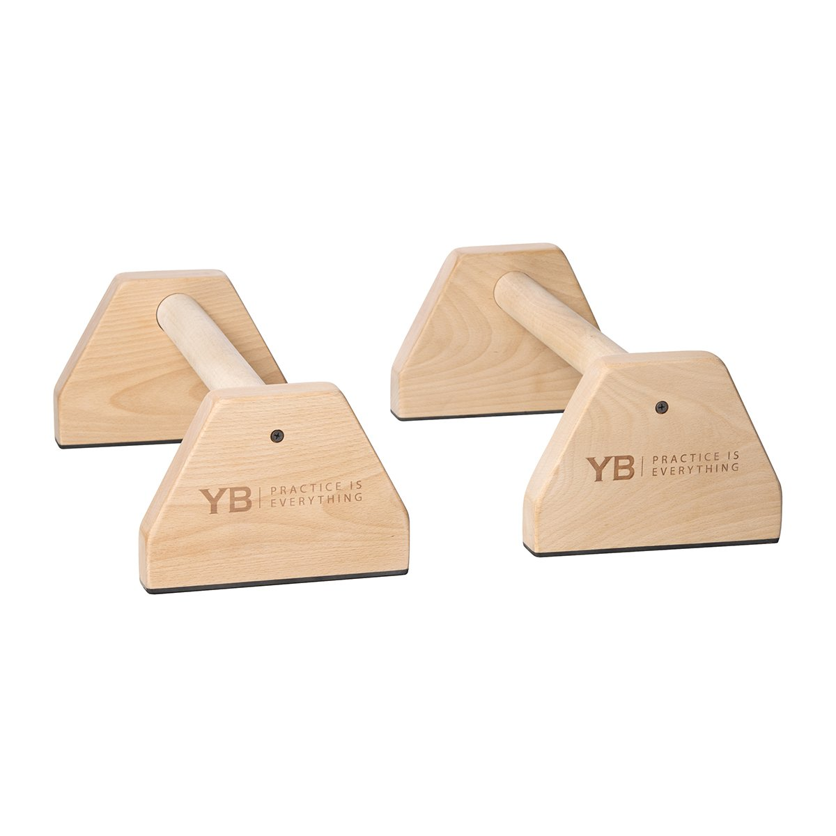 YOGABODY Birch Wood Parallettes (set of 2)   Beautiful, Smooth, Non-Slip Yoga & Gymnastic Training Tool for L-Sits, Lolasana, Handstand Pushups, Jump Backs & More