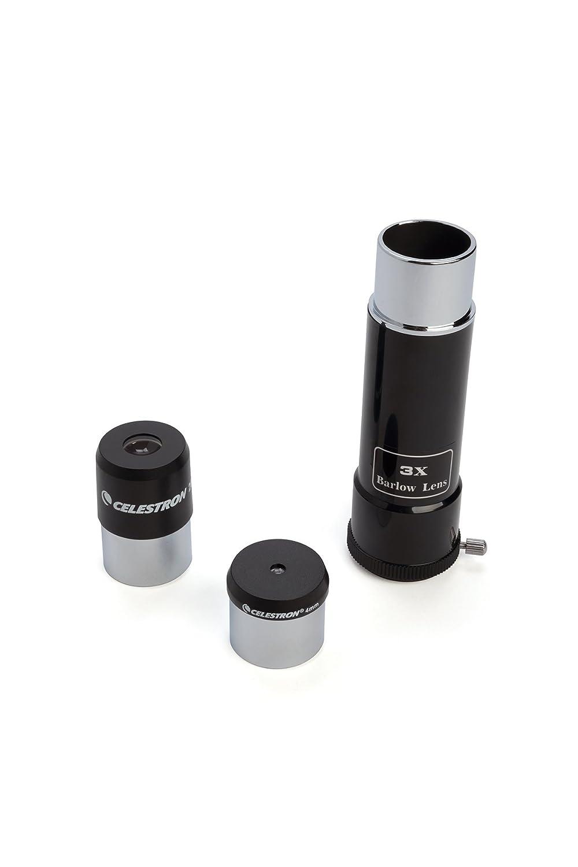 Black Celestron 21087 PowerSeeker 80AZS Telescope Black with Basic Smartphone Adapter 1.25
