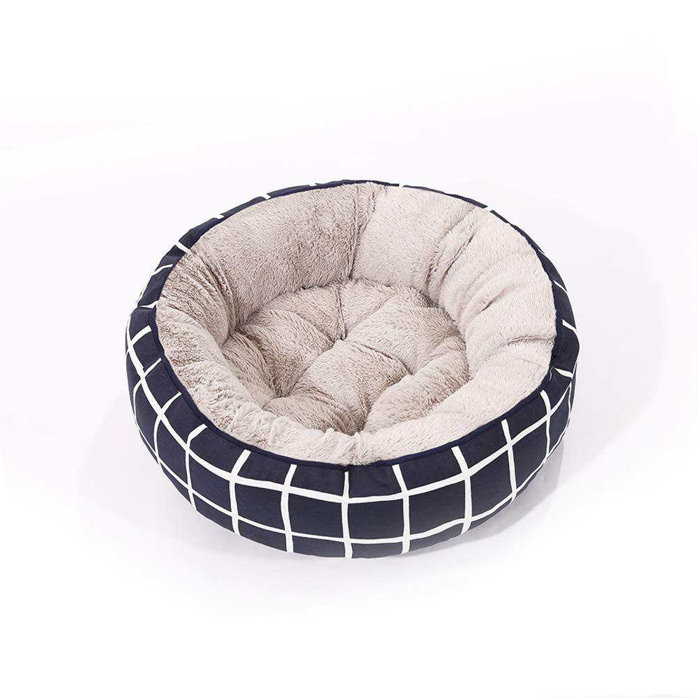 L AWSAYS Striped Canvas Round Pet Nest (Three