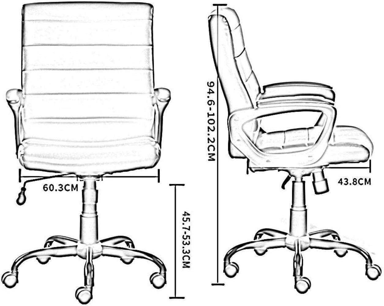 Barstolar THBEIBEI hem kontor skrivbordsstol spelstol datorstol uppgift stol lyft funktion mysig stillasittande är inte trött bärande vikt 250 kg 3 färger (färg: svart) Brun