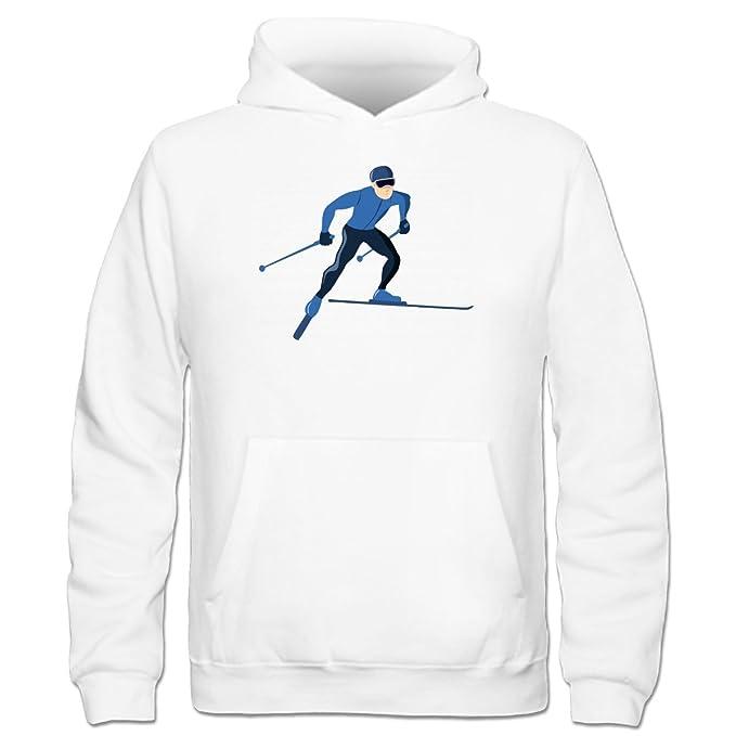 Sudadera con capucha niño Skiing Man by Shirtcity: Amazon.es: Ropa y accesorios