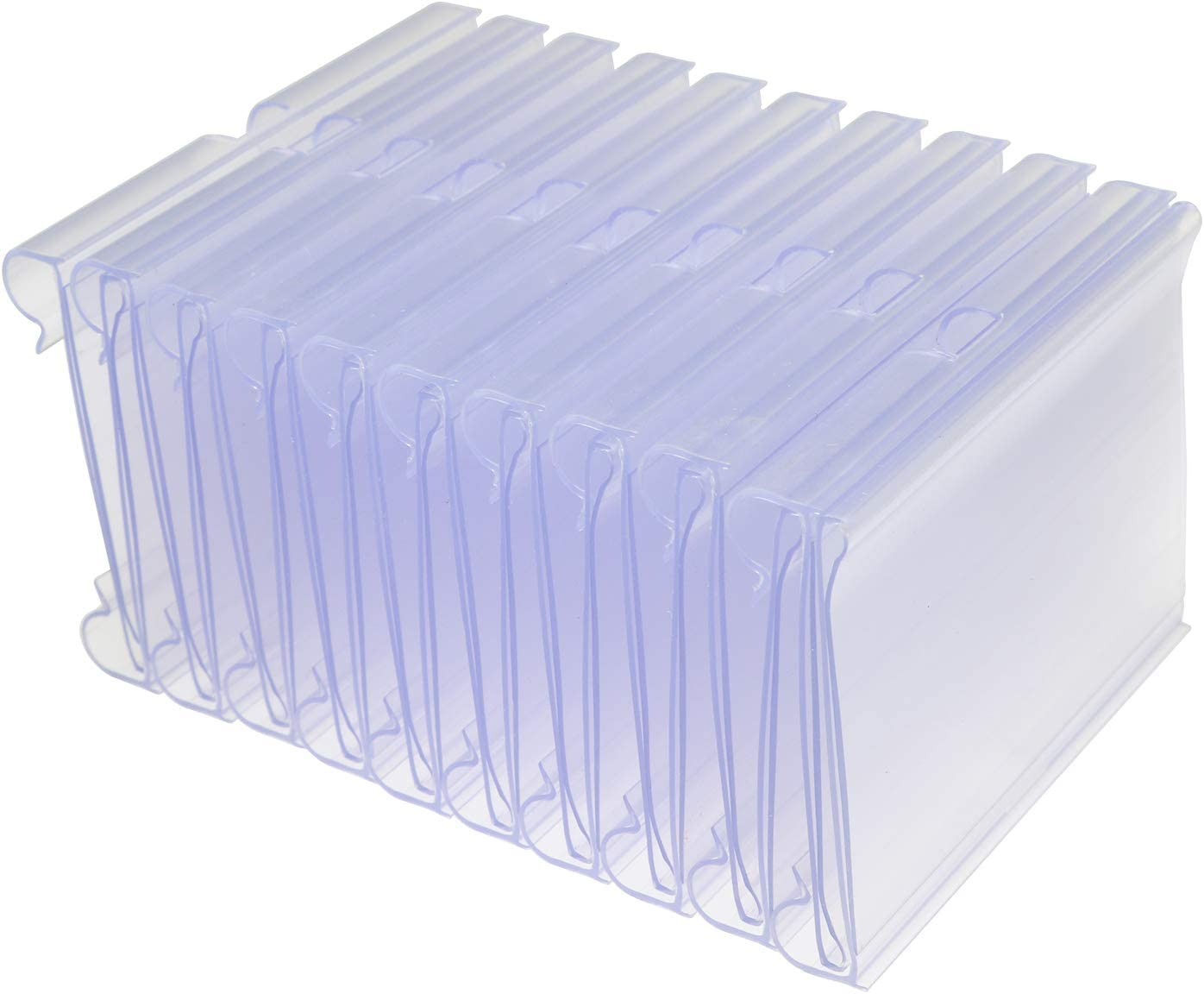 Partstock 50PCS Clear Supermarket Label Holders Retail Shelf Price Tag Holder Label Card Frame Store Merchandise Sign Display Stand 60x42mm