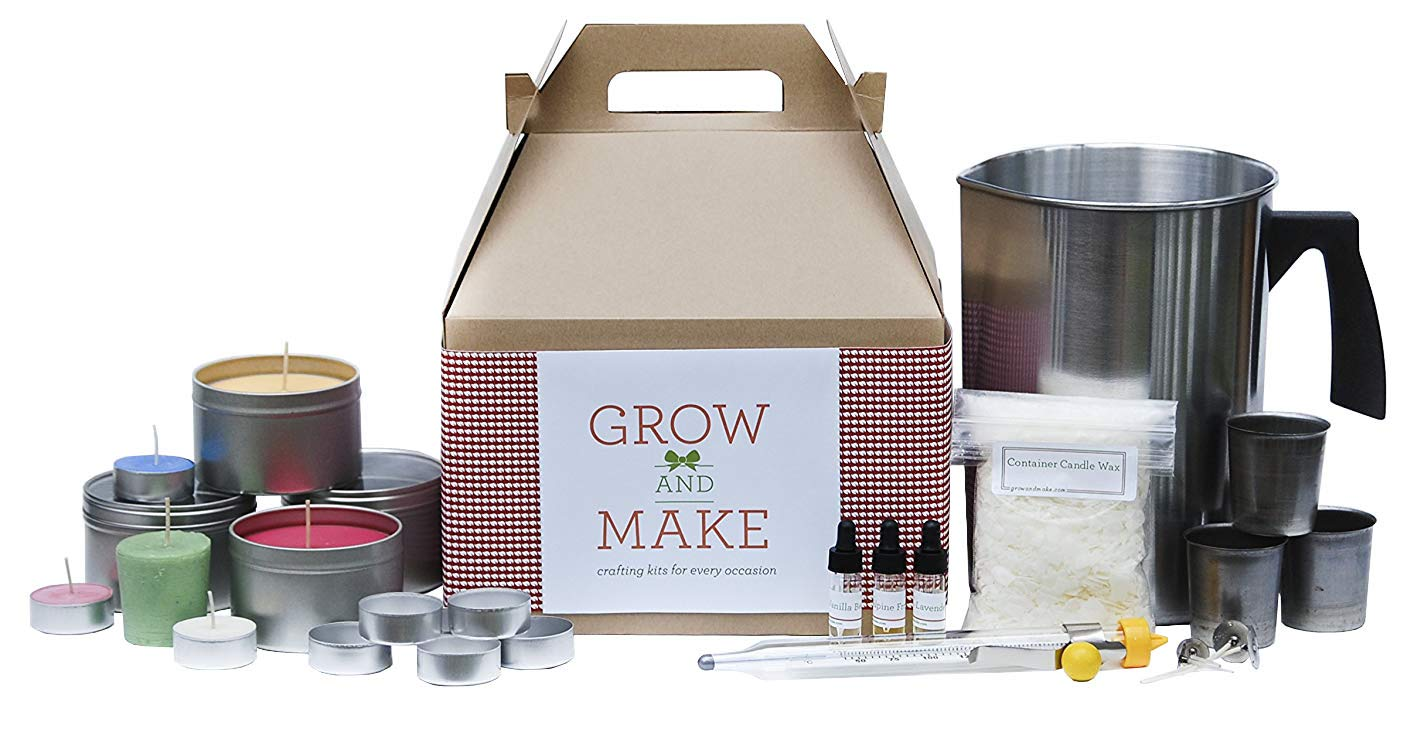 Grow and Make DIY Complete Soy Wax Candle Making Kit - Make your own candles at home!