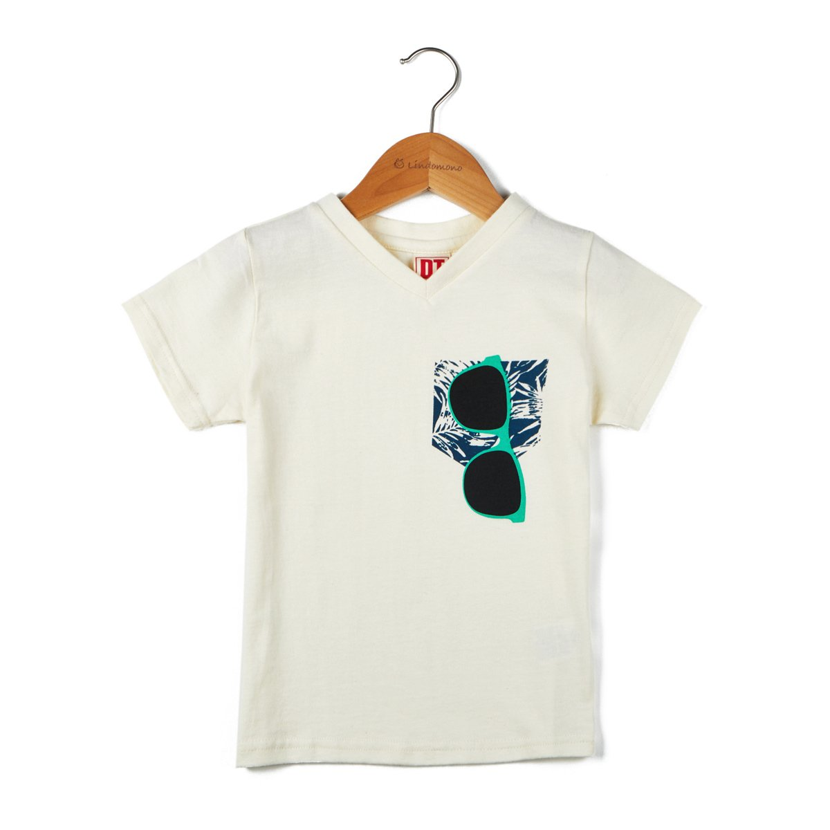 Lindomono Boys' Sunglasses In A Pocket Short Sleeve Graphic Tee 3-4y White