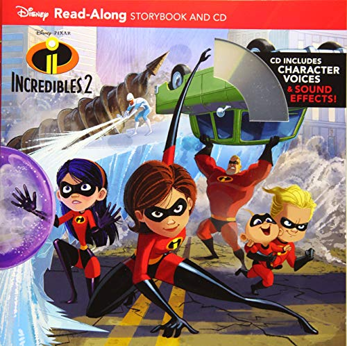 Incredibles 2 Read-Along Storybook and CD (Read-Along Storybook & CD) (Cd Players For Children Spiderman)