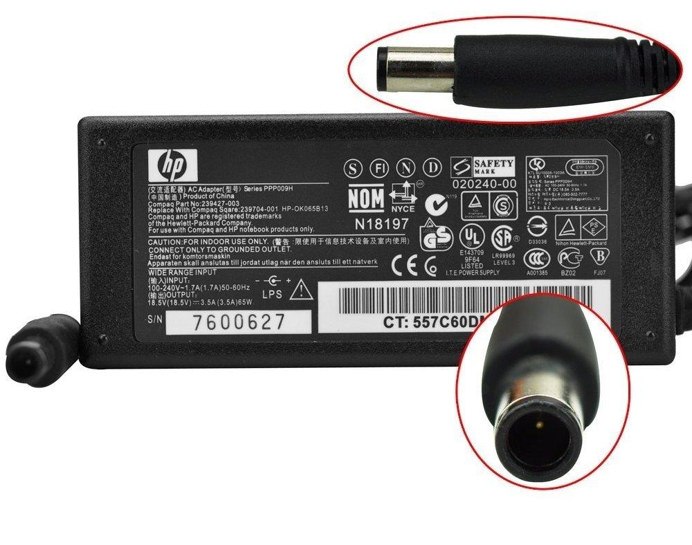 CARGADOR HP PAVILION DV4 DV5 DV6 DV7 18.5V 3.5A: Amazon.es ...