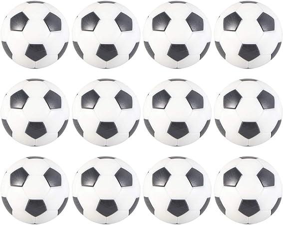 LIOOBO 12 Piezas Mesa Mini Pelotas de Fútbol Balones de Fútbol de Futbolín de Mesa para Niños Adultos Actividades Deportivas (32 mm): Amazon.es: Deportes y aire libre