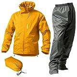 マックレインウェア(MAKKU RAIN WEAR)  DUAL ONE (デュアルワン) 耐久防水レインスーツ ウエア:マットイエロー/パンツ:グレー M AS-8000