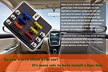 amazon com vetomile 6 way fuse box blade fuse block holder screw Fire Tube Box amazon com vetomile 6 way fuse box blade fuse block holder screw nut terminal 5a 10a 15a 20a free fuses led indicator waterpoof cover for automotive car