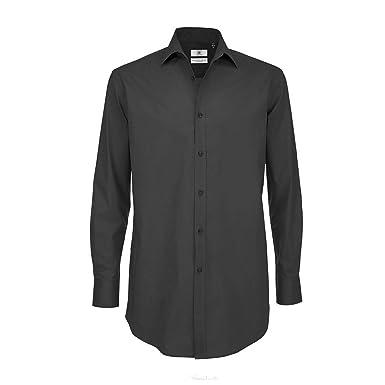 Bc Mens Black Tie Long Sleeve Dress Shirt At Amazon Mens Clothing