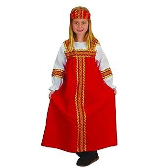 Disfraz ruso para niña, se adapta a la mayoría de los niños de 3 a ...