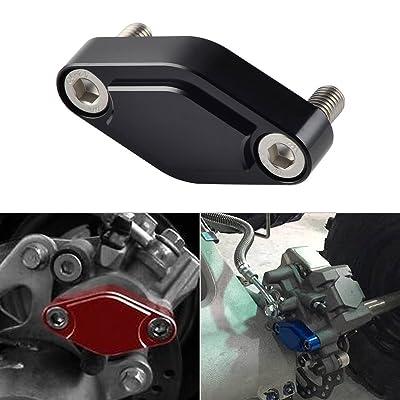 NICECNC Black CNC ATV Parking Brake Block Off Plate for Raptor 125,250,350,660,700,YFZ450/450R/X,Warrior 350,Banshee 350,TRX 450R/400EX/300EX,LTZ 400/LTR 450,KFX 400/450: Automotive