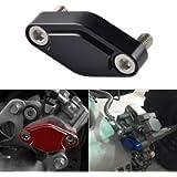 NICECNC Black CNC ATV Parking Brake Block Off Plate for Raptor 125,250,350,660,700,YFZ450/450R/X,Warrior 350,Banshee 350…