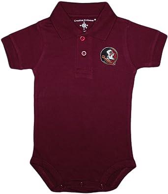 bd8107a5967 Amazon.com: Florida State University FSU Seminoles Newborn Polo Bodysuit:  Clothing