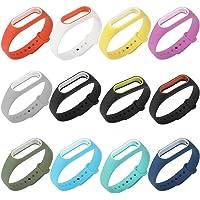 COOSA Correas Recambio pBrazalete Extensibles Coloridos Impermeables para reemplazo Pulsera XIAOMI Mi Band 2 Wireless (sin Rastreador de Actividad)