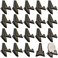Hipiwe 20 Packs Mini Acrylic Easel Stands Black Coin Display Easel Holder for Displaying Air-Tite Coins Pocket Watches Capsules Challenge Medals Casino Chips