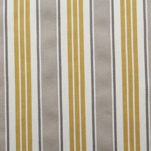 DOVE GREY YELLOW - Fryetts Designer Vintage 100% Cotton Ticking Stripe Chevron Weave Deck Chair & Deck Chair Fabric: Amazon.co.uk