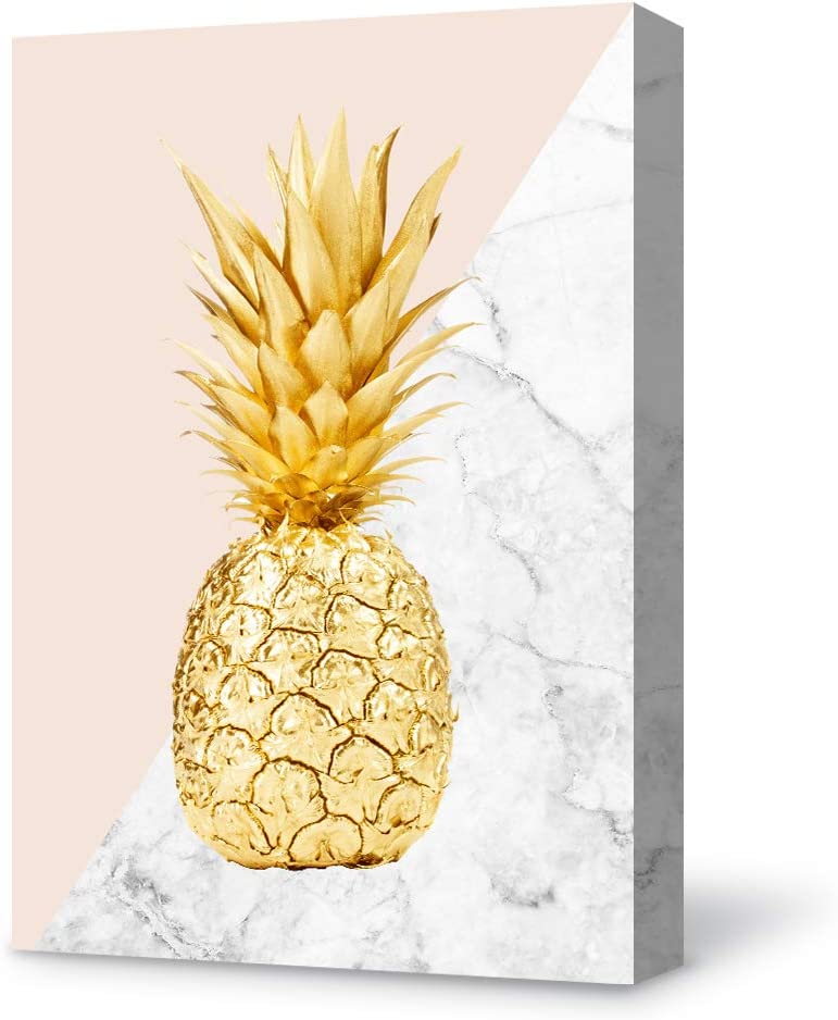 SIGNFORD Canvas Wall Art Modern Pineapple Canvas Painting Wall Poster Decor for Living Room Wooden Framed Home Decorations - 12x18 inches