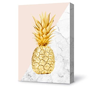 SIGNFORD Canvas Wall Art Modern Pineapple Canvas Painting Wall Poster Decor for Living Room Wooden Framed Home Decorations - 16x24 inches