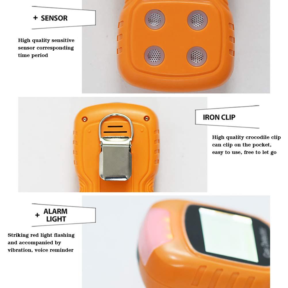 Bespick Detector de Gas Compuesto USB,Detector Multigas,Monitor de Calidad del Aire con Pantalla LCD,4 GasO2//CO//H2S//EX 1800 mA -20℃~50℃ para Agricultura Fuego,Gas Natural Qu/ímica Construcci/ón