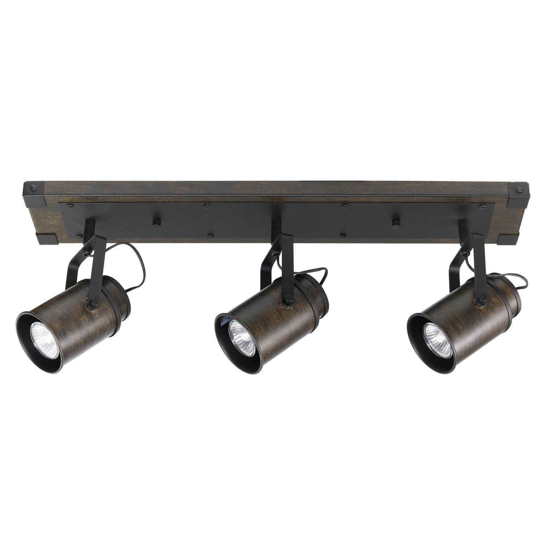 Globe electric 59316 williamsburg 3 light track lighting dark wood