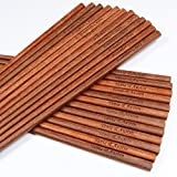 150 Pairs handmade African Pau Rosa wood chopsticks with custom laser engraving names and date for wedding