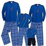 Moose on Skis Royal Blue Shirt Pant Set - Adult XX-Large, L/S, ROYSP Plaid Pants