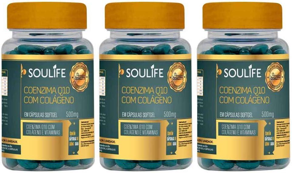 Coenzima Q10 com Colágeno 500mg - 60 Cáps - Soulife