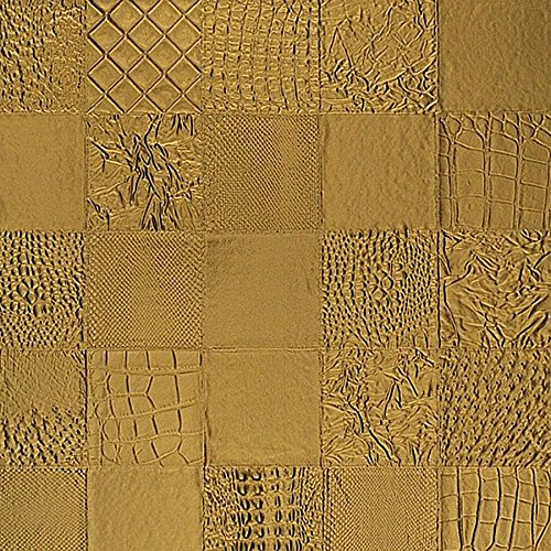 WallFace 13926 COLLAGE Wall panel leather 3D interior luxury wallcovering decoration self-adhesive gold | 2,61 qm by Wallface (Image #5)