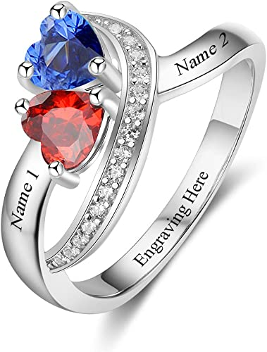 925 Silver 5mm Heart Diamond Ring Wedding Engagement Couple Promise Gift For Her