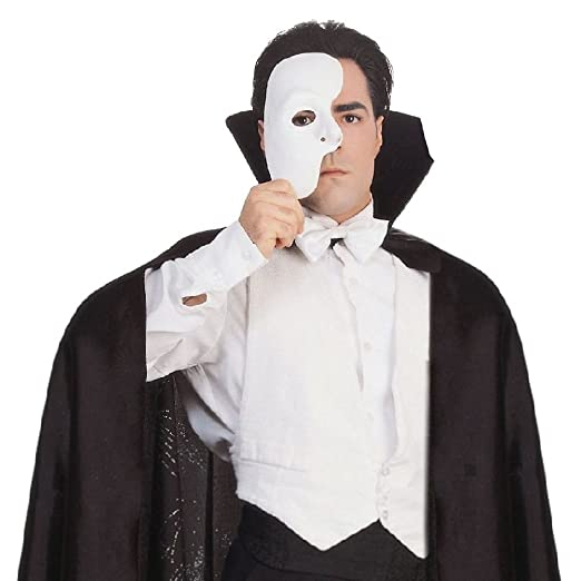de4dfc2ea62e9 Amazon.com: Phantom of The Opera Mask Costume Accessory: Clothing