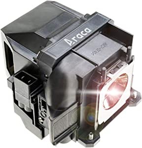 Araca ELPLP78 /V13H010L78 Replacement Projector Lamp with Housing for Epson EX7230 EX5220 EX7235 VS230 EX7220 EX3220 TW5200 1262W TW410 EX5230 VS335W EX6220 VS330 EB-S18 TW5200 TW410 Home Cinema 2000