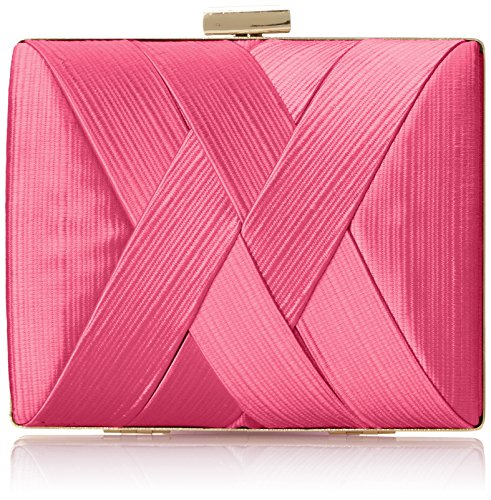 la-regale-satin-criss-cross-clutch-pink-one-size
