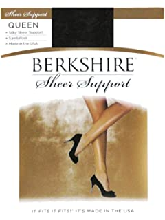 edd9633fec0 Berkshire Women s Plus-Size Queen Silky Sheer Support Pantyhose - Sandalfoot  4417