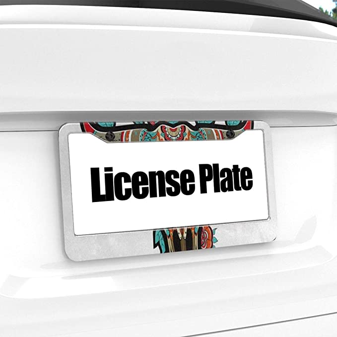 Text Graphic Custom Personalized MicroToo License Plate Frame 12.25x6.5 Precise Size Screws /& Caps Included Premium Alluminium
