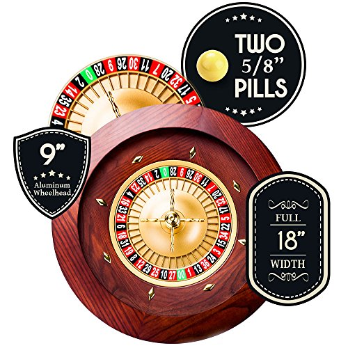 brybelly casino grade deluxe wooden roulette wheel
