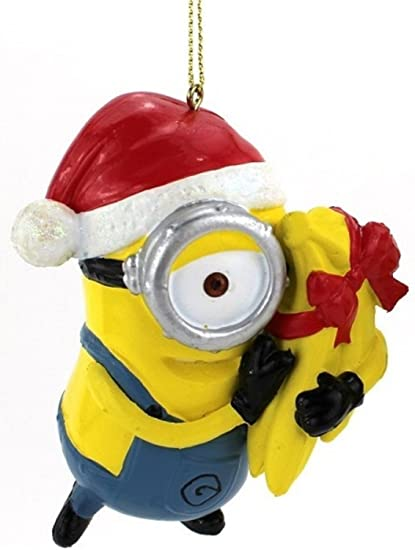 "Kurt Adler 3.5"" Despicable Me Minion Carl with Gift Wrapped Bananas Christmas  Ornament - Amazon.com: Kurt Adler 3.5"
