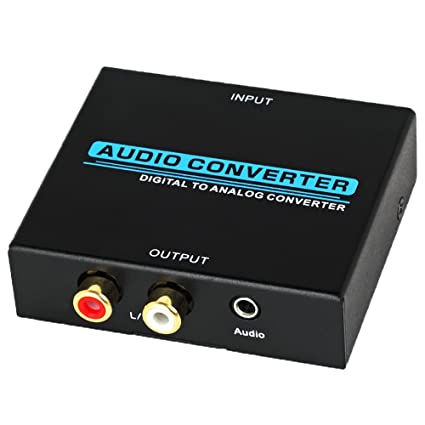 Proster Digital to Analog Converter DAC Digital Optical Coaxial Toslink to Analog Stereo RCA Audio Converte