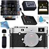 Leica M-P (Typ 240) Digital Rangefinder Camera (Silver Chrome) 10772 Summicron-M 28mm f/2.0 Lens + 64GB SDXC Card + Card Reader + Deluxe Cleaning Kit + Fibercloth Bundle