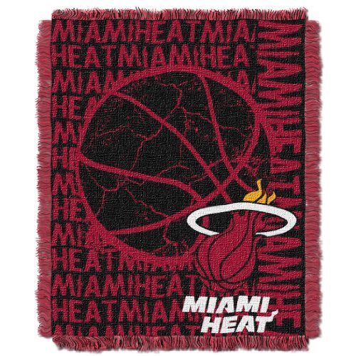 Northwest 019 NBA Miami Heat 48 x 60-Inch Double Play Jacquard Triple Woven Throw