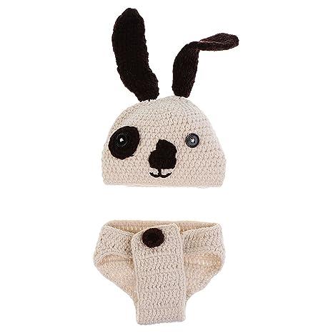 P Prettyia Crochet Foto Zapatos Accesorios Bebé Pañal Traje ...