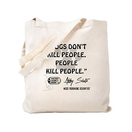 68495c39783 Amazon.com: CafePress - DOGS DON't KILL. - Natural Canvas Tote Bag ...
