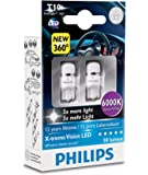 Philips 127996000KX2 Lot de 2 ampoules LED T10 W5W X-treme Vision 6000 K CeraLight 360°