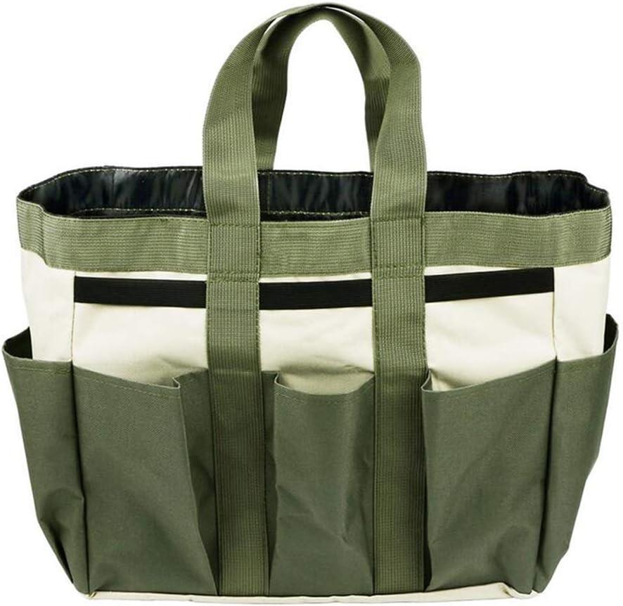 JKLcom Gardening Tote Bag Garden Tool Bag with 9 Pockets Garden Tote Organizer Bag Gardening Tool Kit Holder Oxford Bag Gardening Tools Storage Organizer Tote Bag for Outdoor Garden Lawn Yard