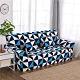 RUGAI-UE Sofa Slipcover sofa cover tight fitted elastic gasket cover three upholstered sofa full four living room,A single seater 90-140cm,Fashion style
